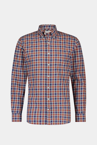 Regular fit melange check shirt