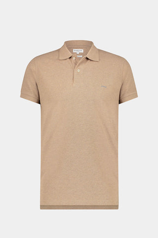 Regular Fit cotton pique melee Polo