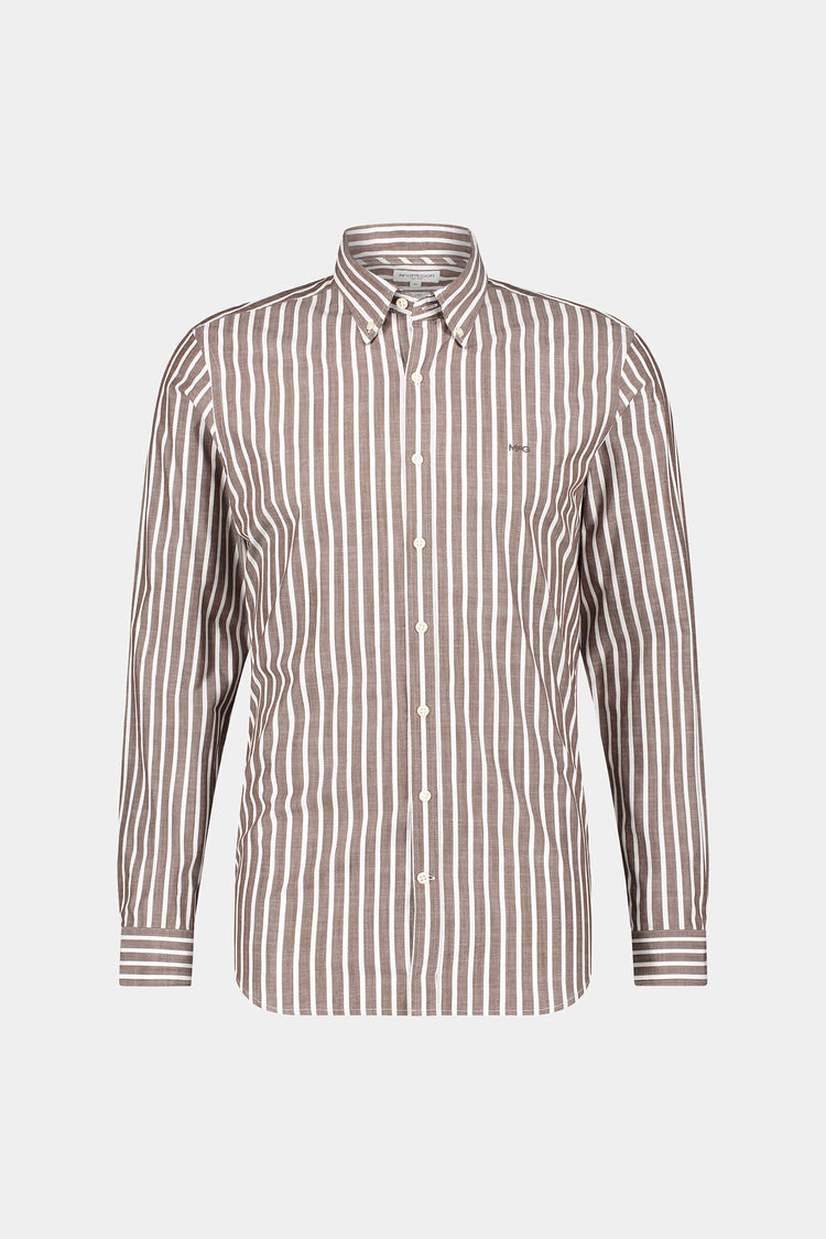 Slim fit Fil a Fil stripe shirt