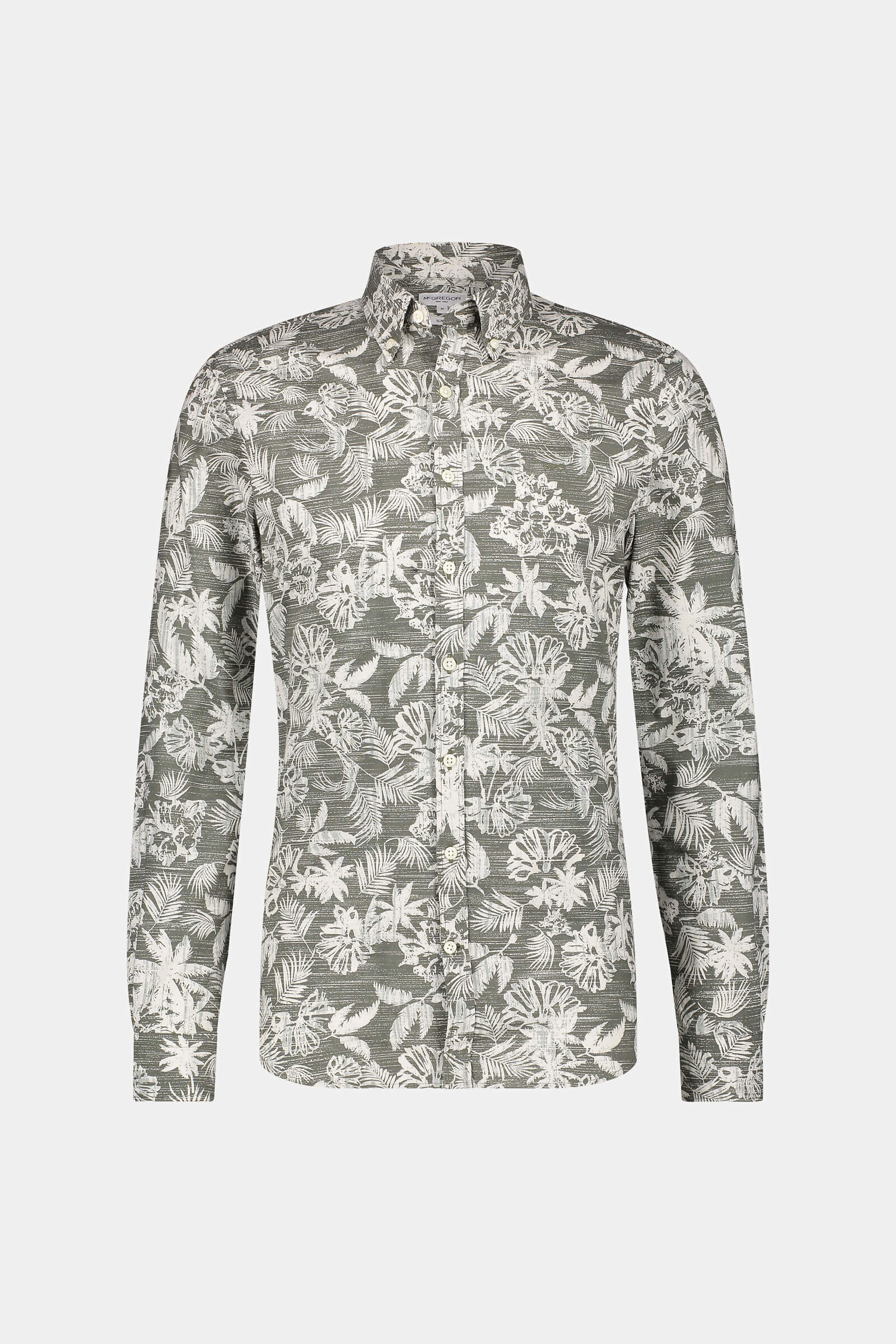 Slim fit vintage tropical print shirt