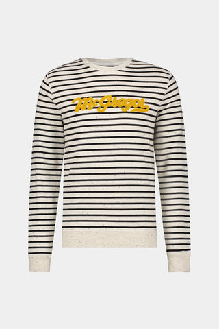 Crew Sweat stripe logo
