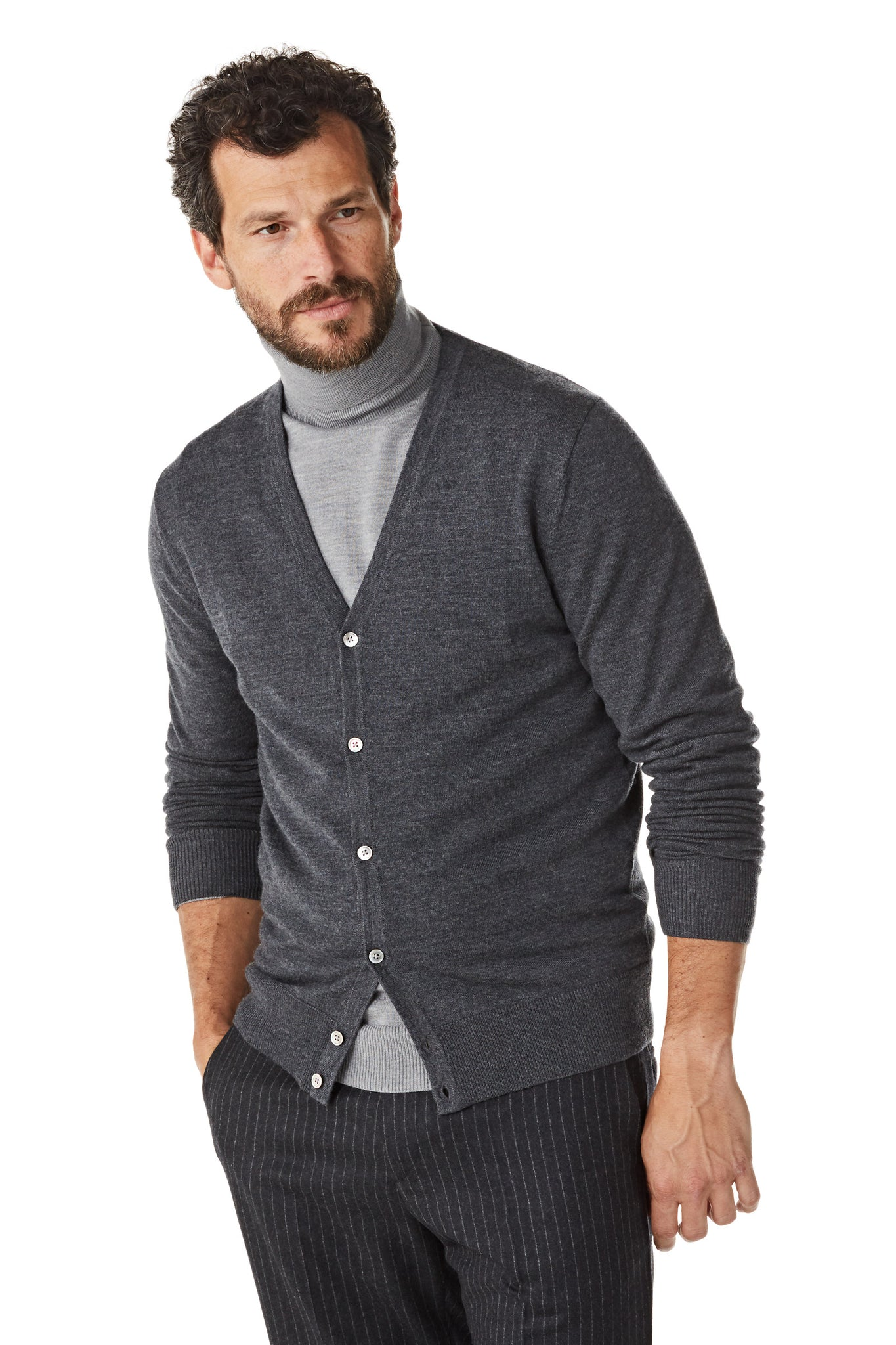Merino Button Cardigan