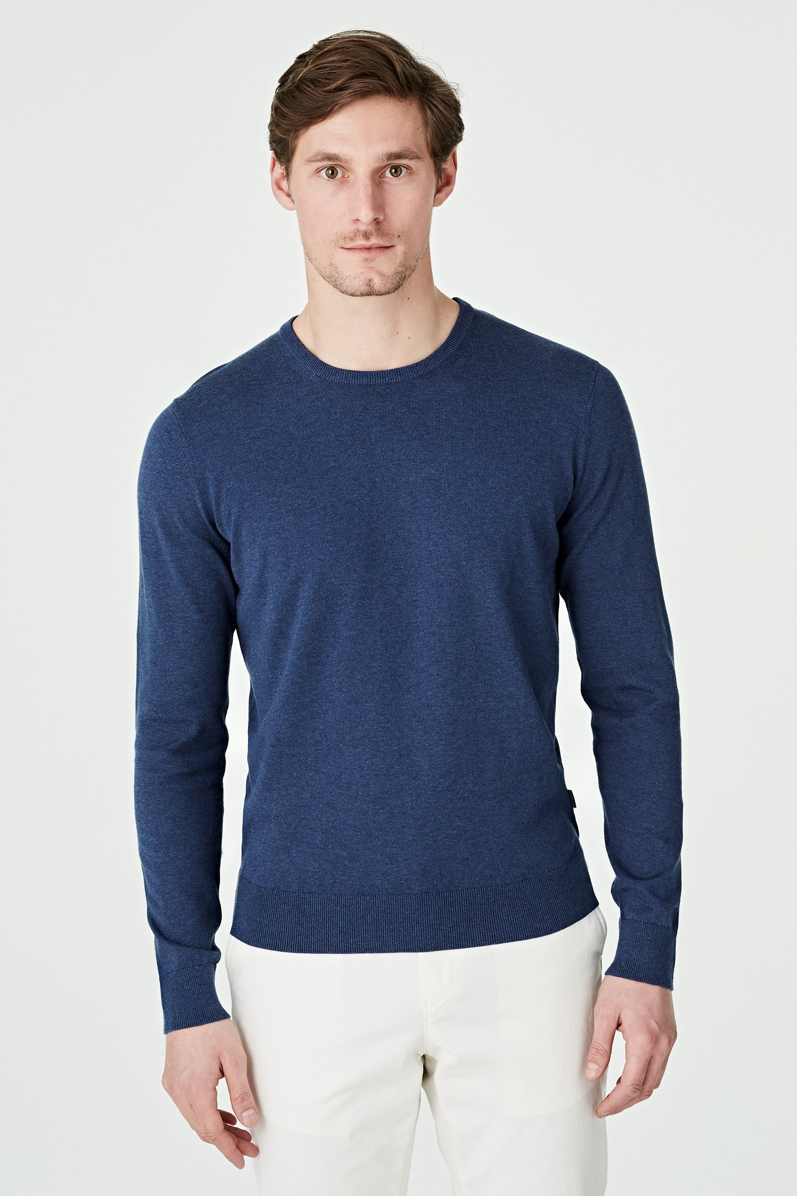 Pima Cotton Crew Neck Sweater