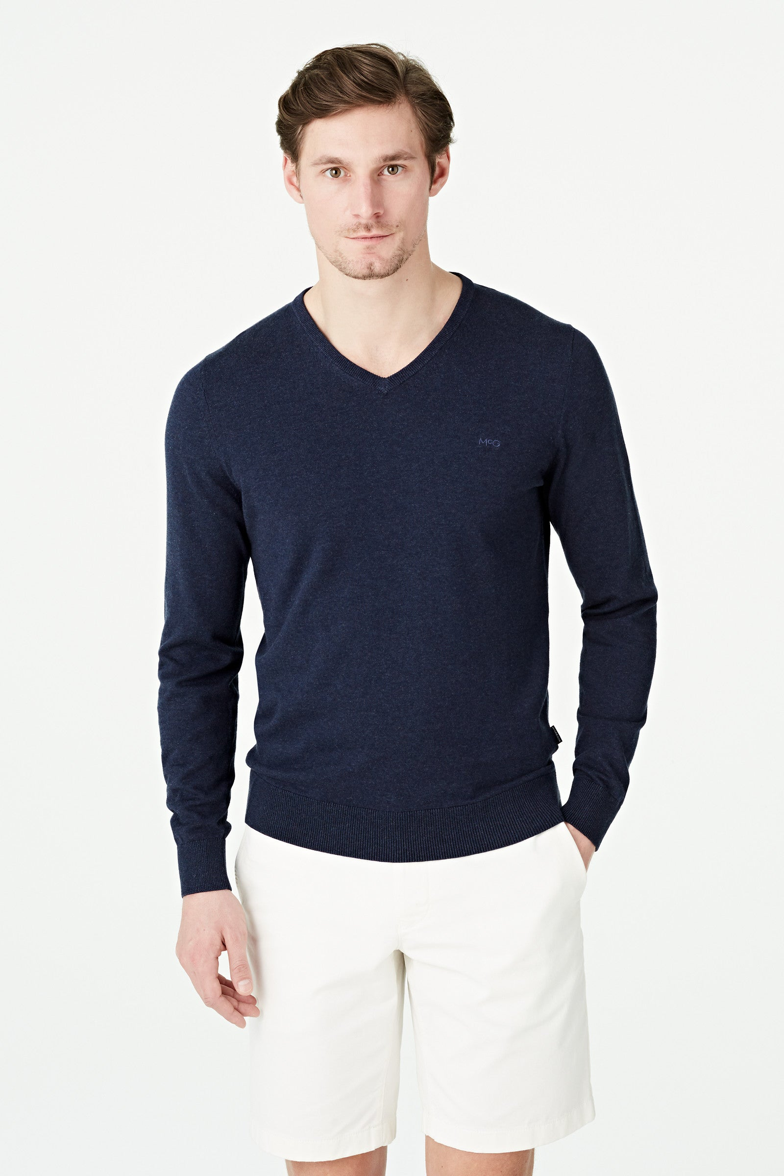 Pima Cotton V Neck Sweater