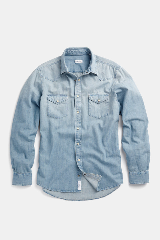 Sprayed Denim Shirt Regular Fit