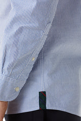 Stripe Oxford Shirt in Regular Fit with Stretch