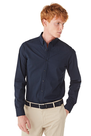 Poplin Shirt in Slim Fit with Stretch