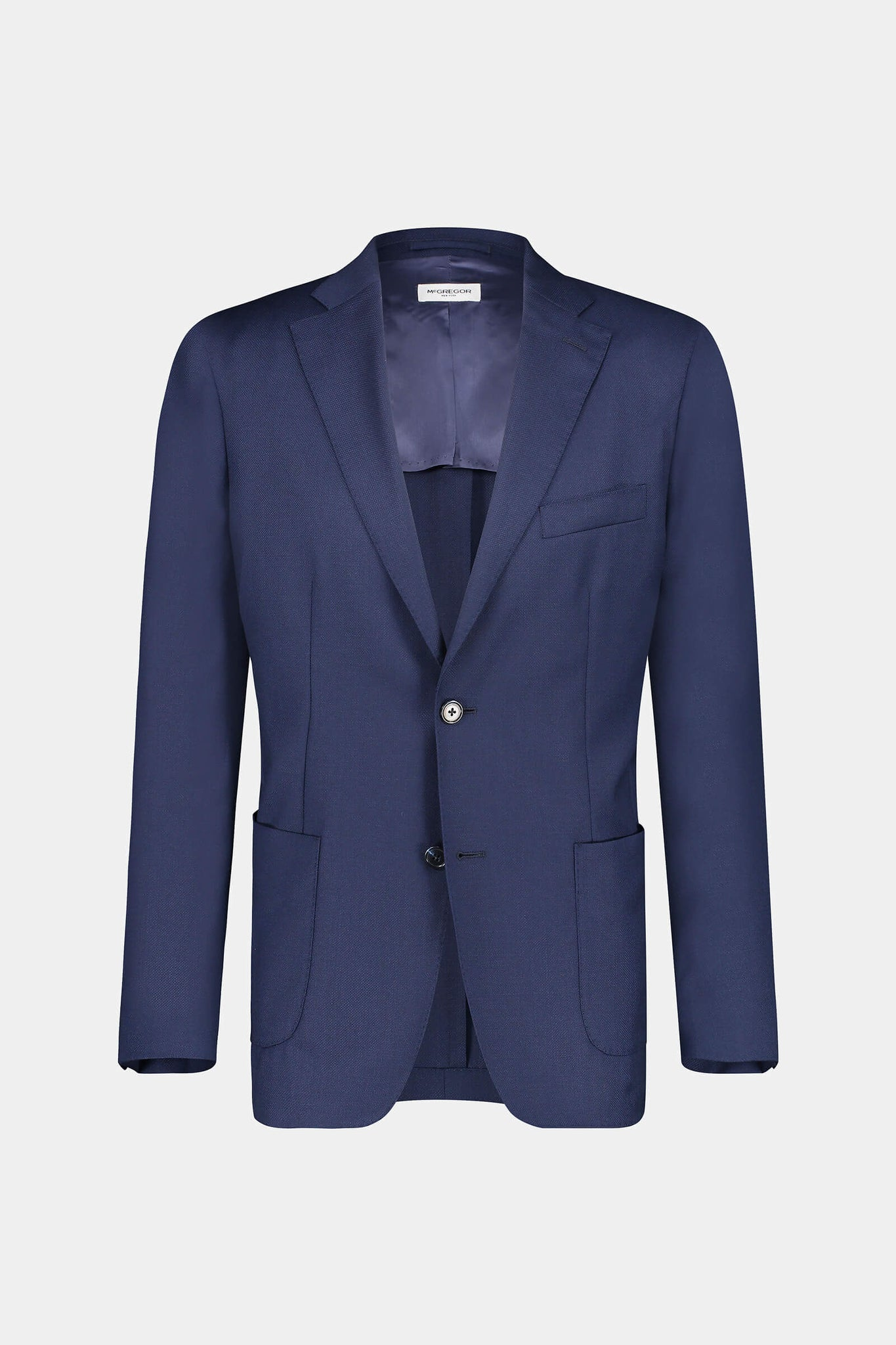 Regular fit lightweight wool blazer