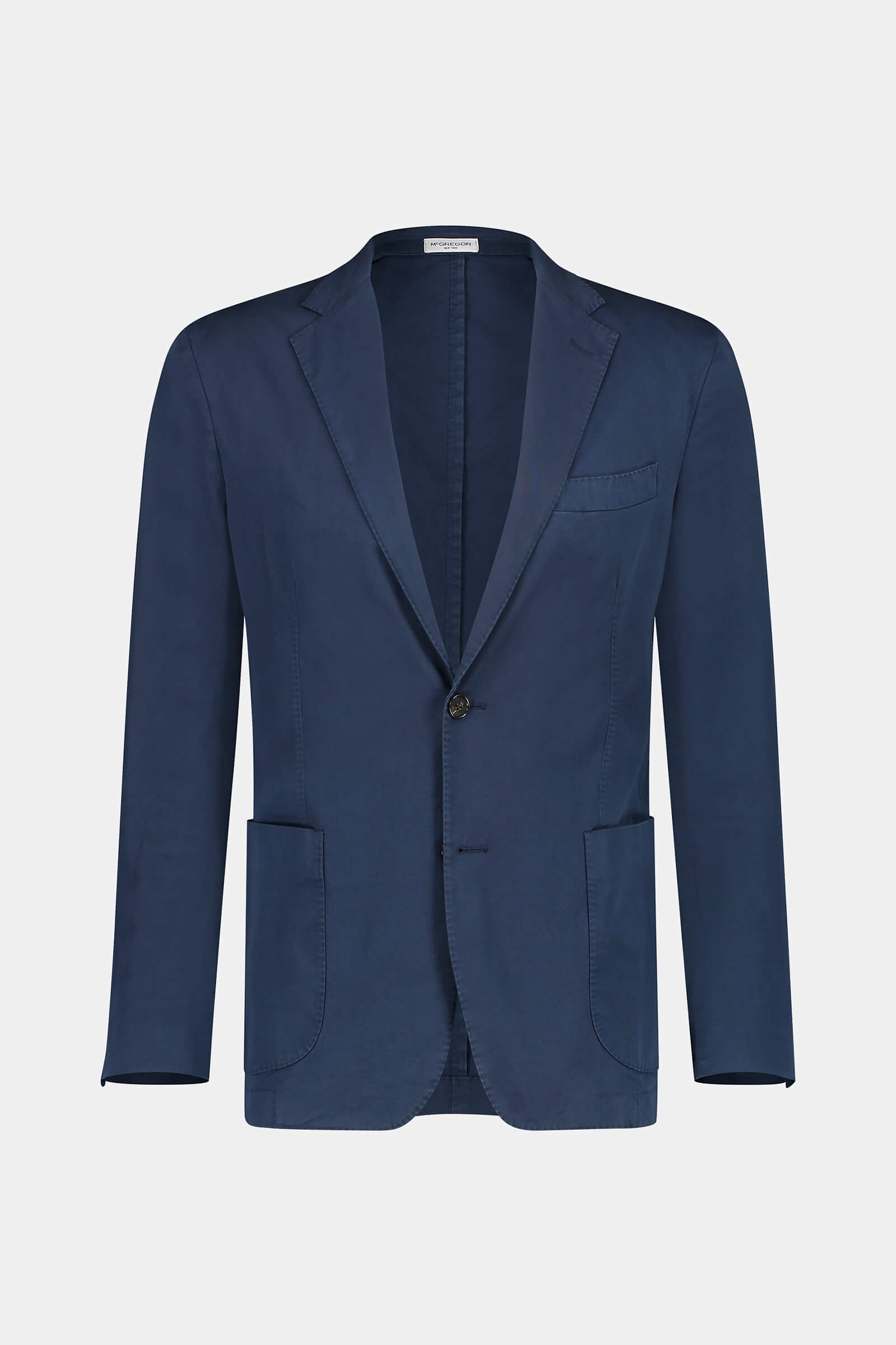 Regular fit cotton blazer