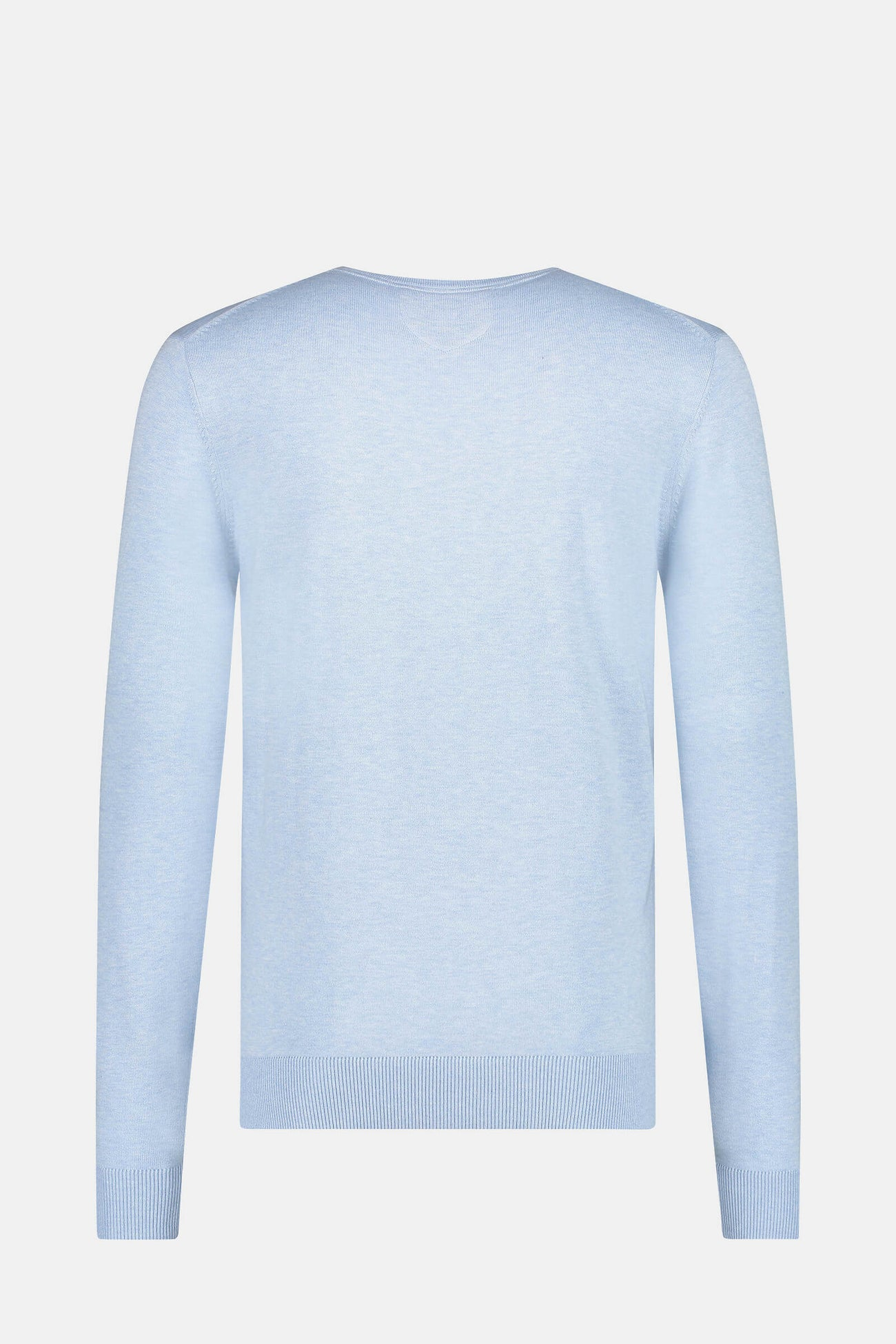 Crew neck sweater in cotton silk blend