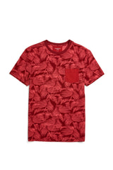 McG Regular fit T-shirt with tone-on-tone tropical print