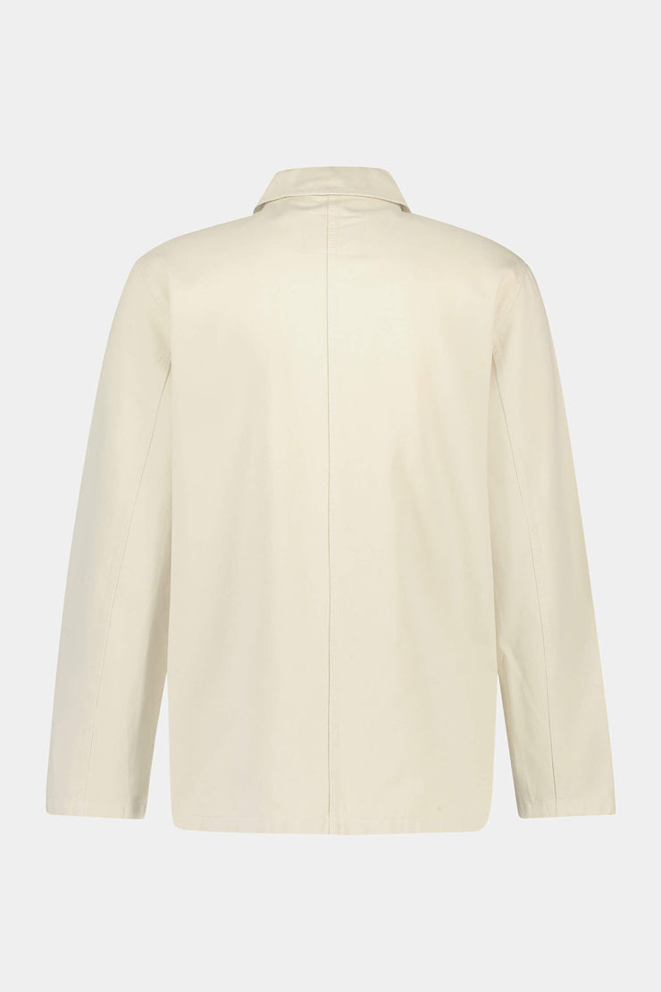 Boxy fit cotton twill shirt