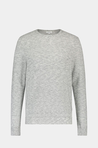Crew neck sweater with honeycomb structure