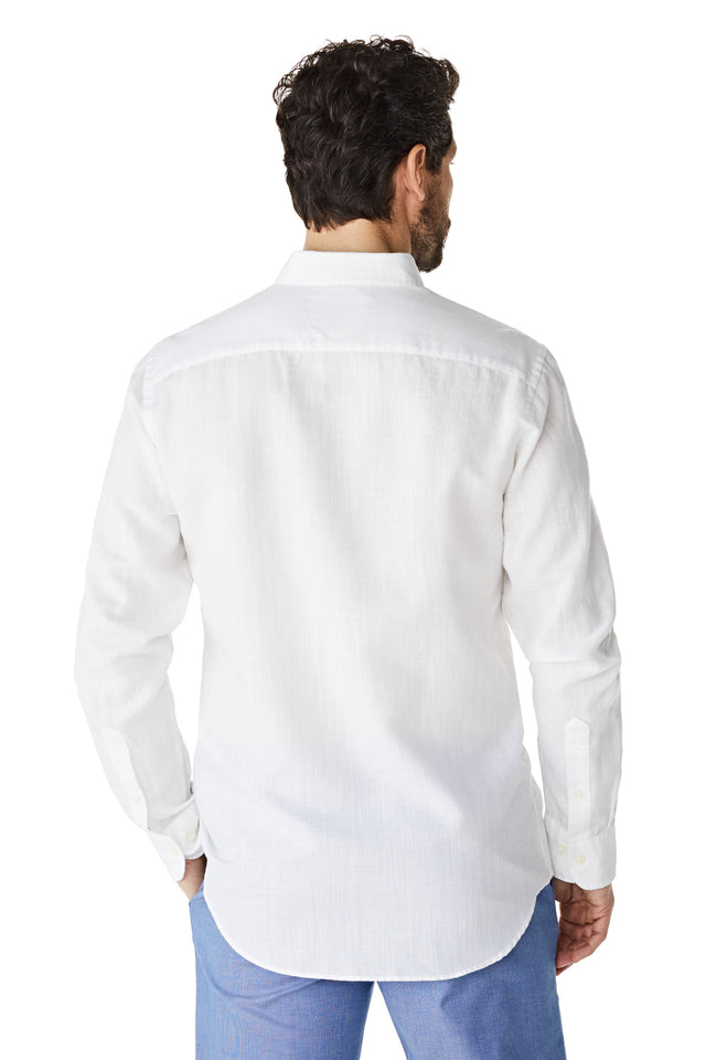 McG Regular fit shirt in cotton linen blend