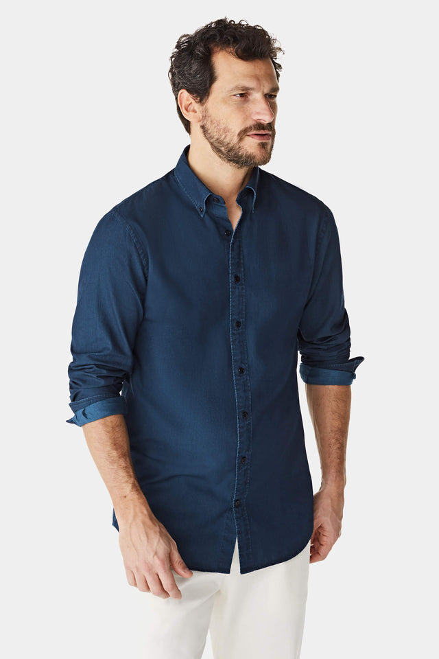 McG Regular fit denim shirt with button-down collar