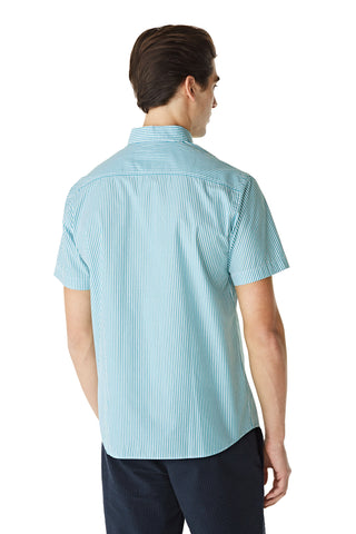 McG Regular fit shirt with short sleeves and fine stripes