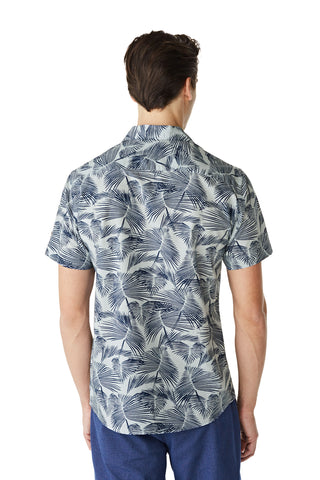 McG Regular fit palm print shirt with short sleeves