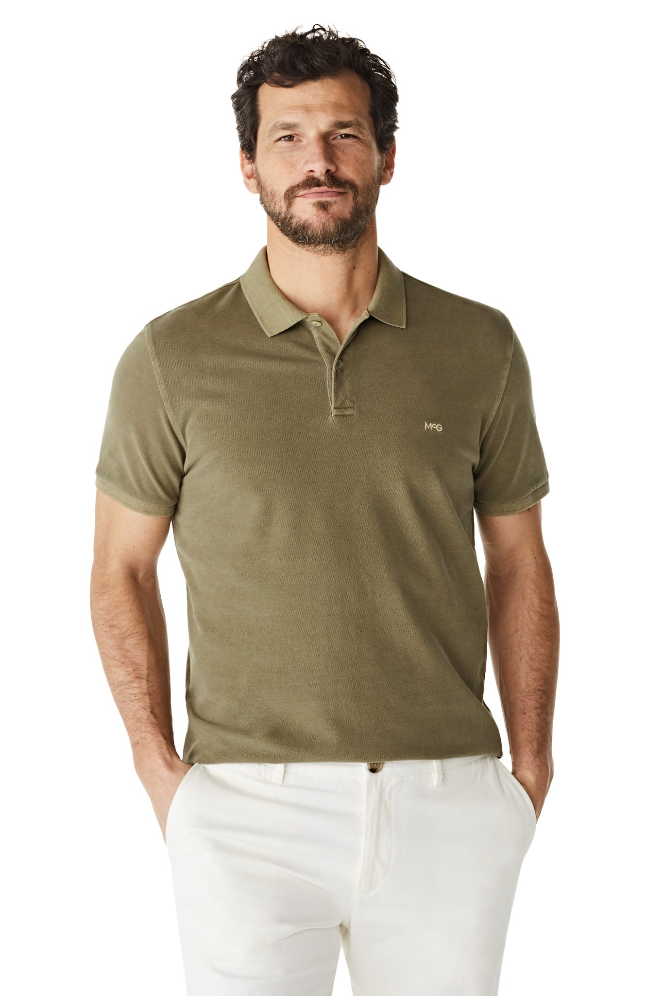 McG Regular fit pique polo in soft cotton