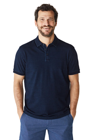 McG Regular fit polo with indigo stripes