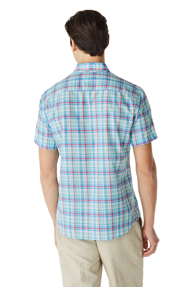 McG Regular fit checkered shirt with short sleeves