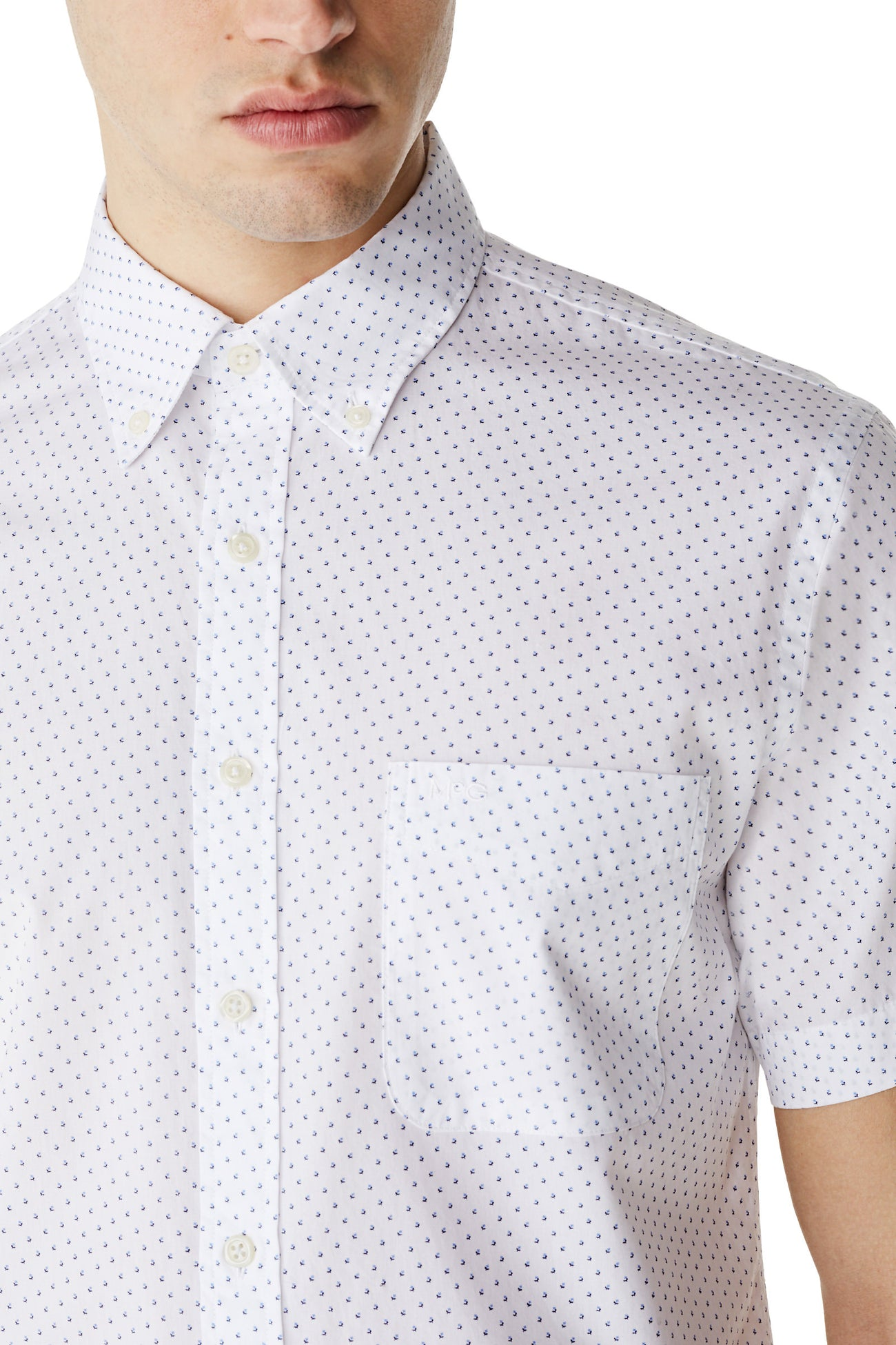 McG Regular fit mini-print shirt with short sleeves