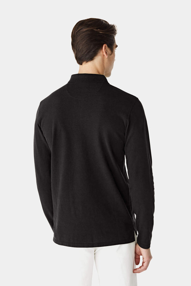 Regular fit pique polo longsleeve