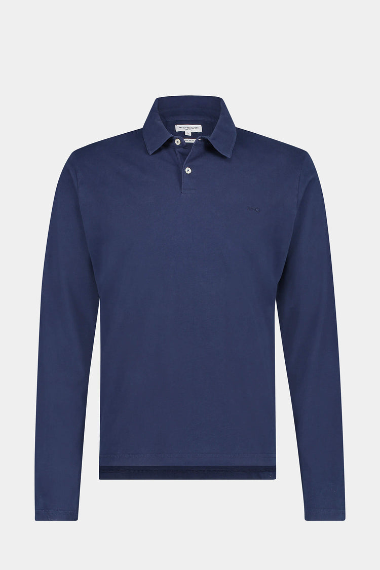 McG Regular fit pique polo longsleeve