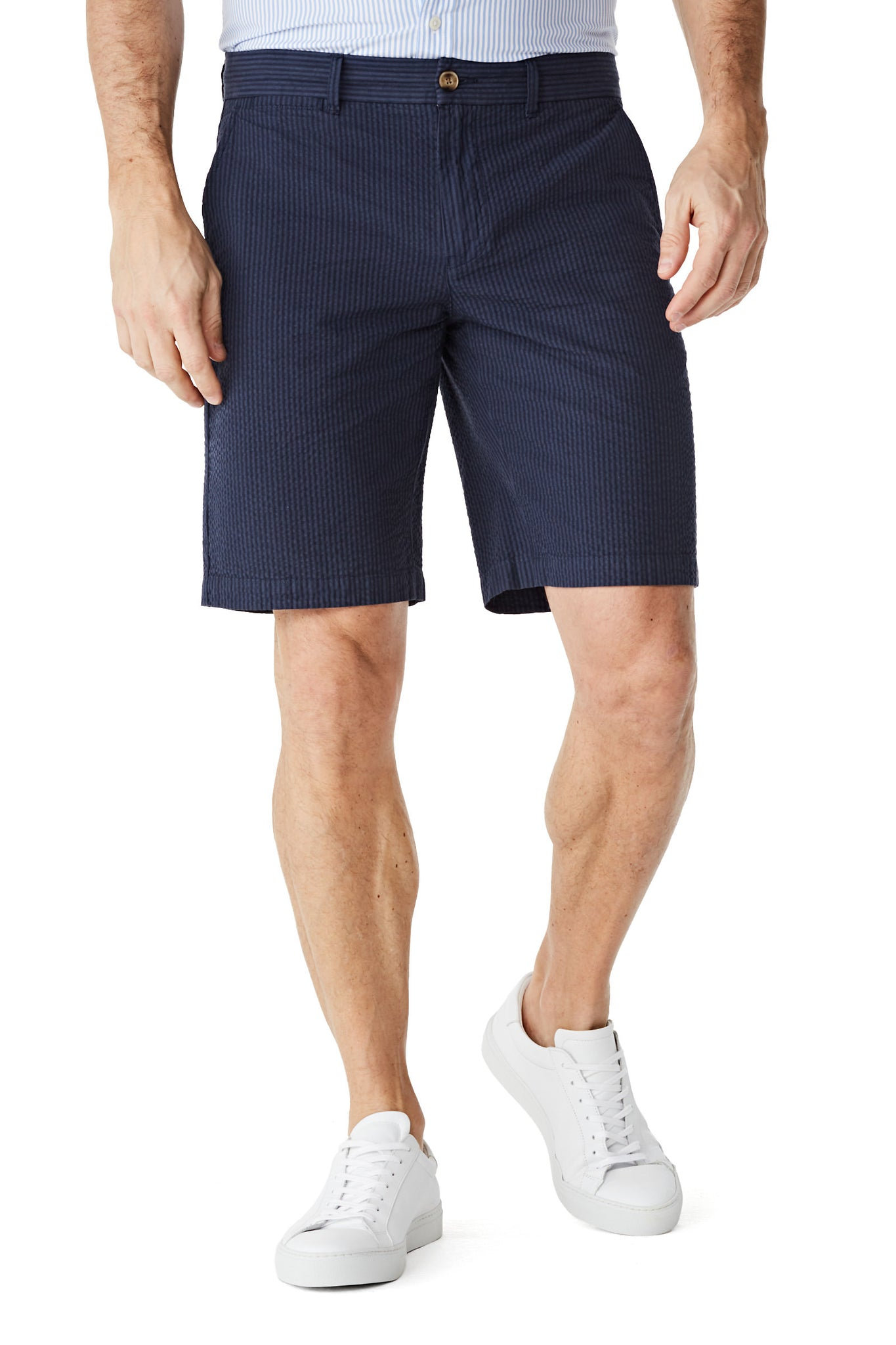 McG Regular fit seersucker shorts