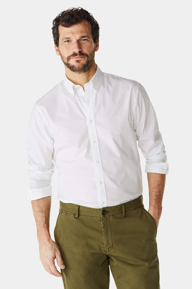 Regular Fit Poplin shirt with stretch