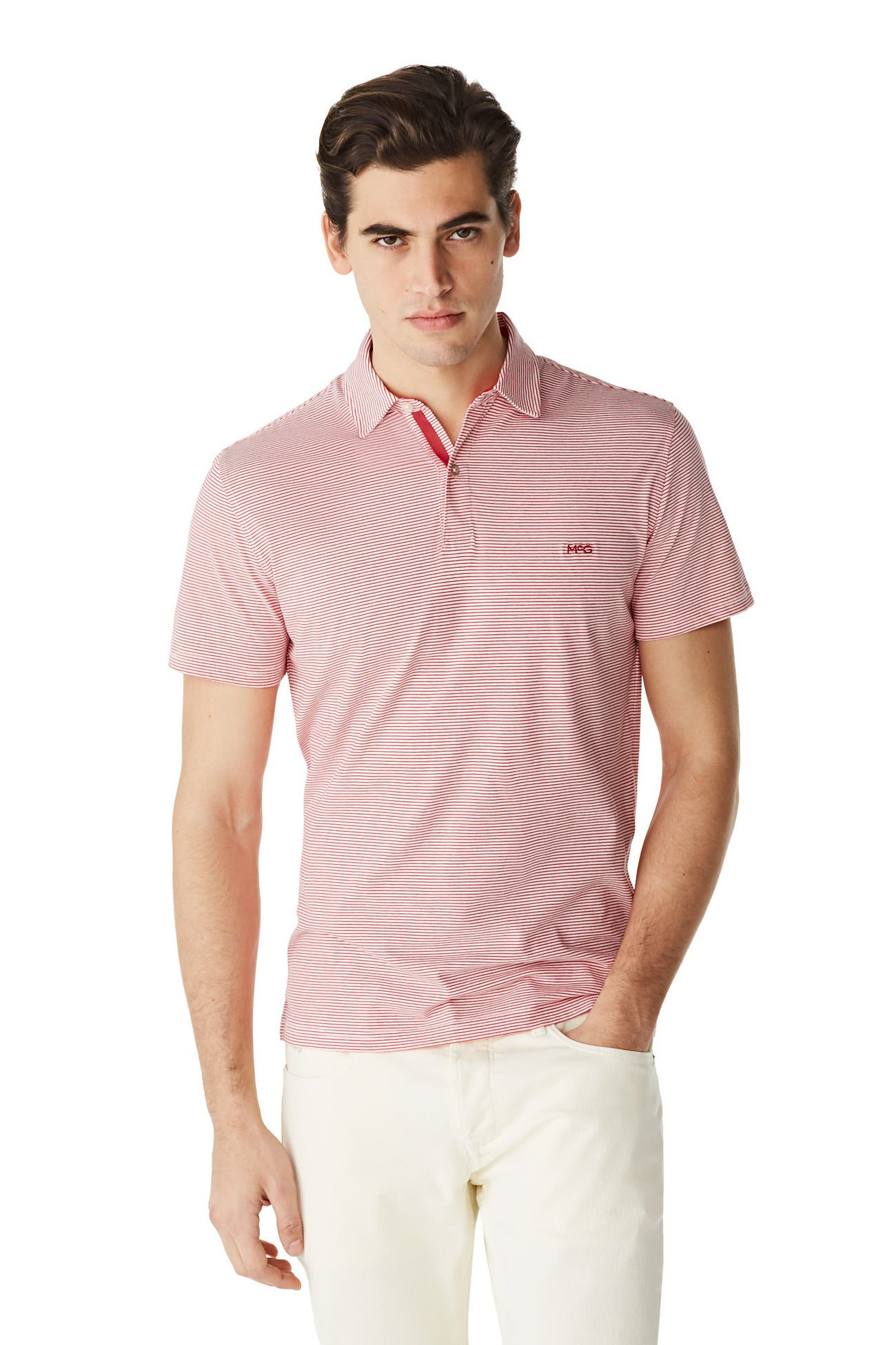 McG Regular fit jersey polo with stripes