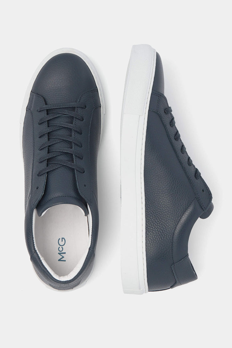 Dark leather sneakers