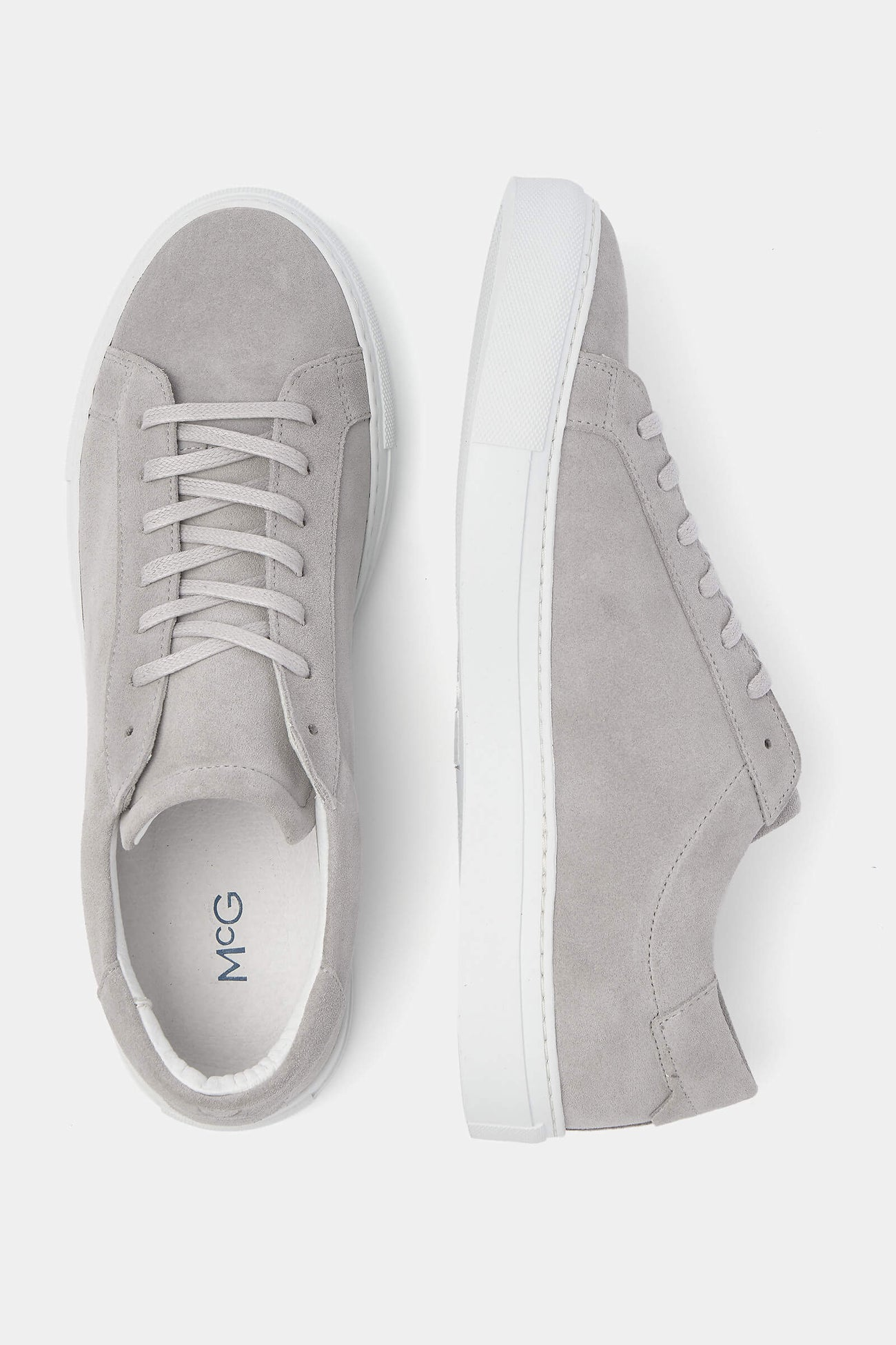 McG Light Gray suede sneakers