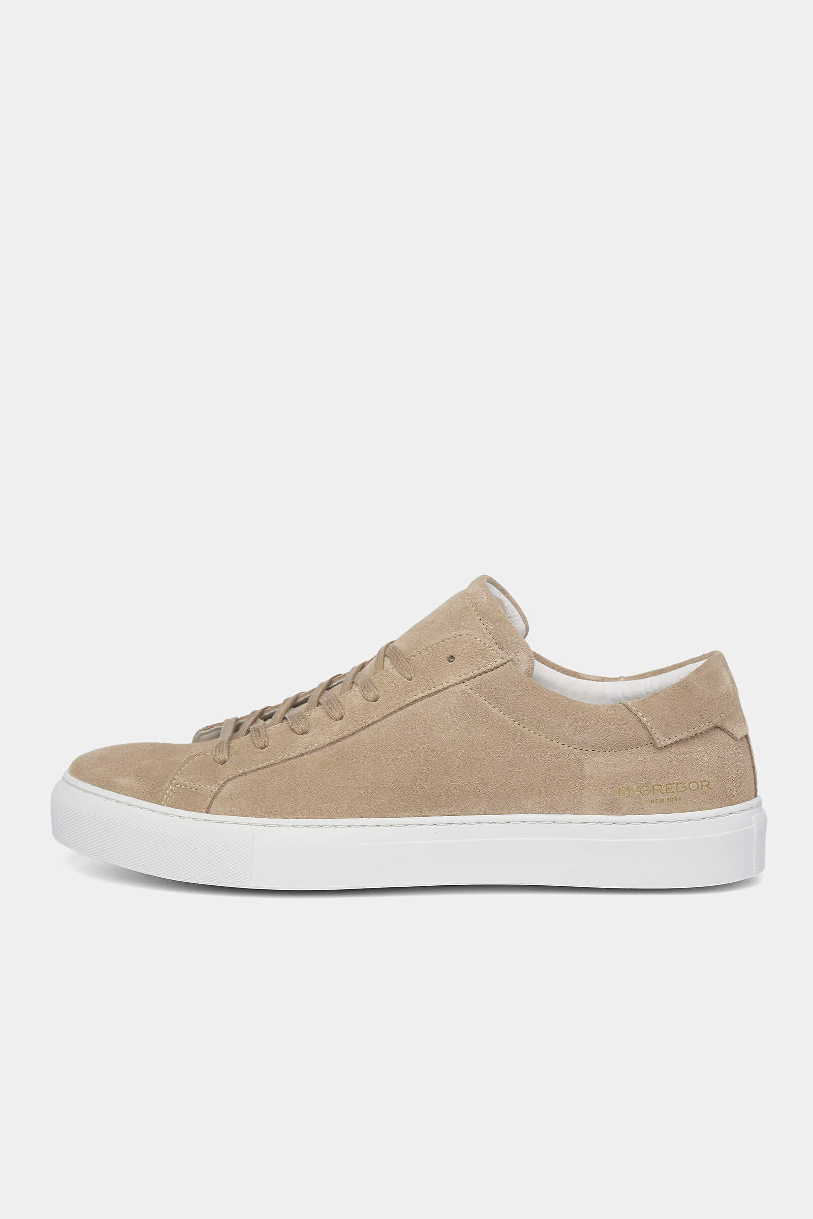 Light brown suede sneakers