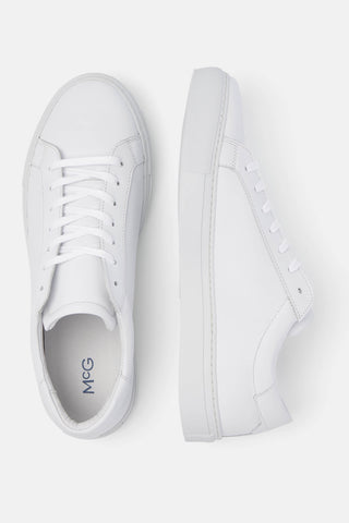 McG White leather sneakers