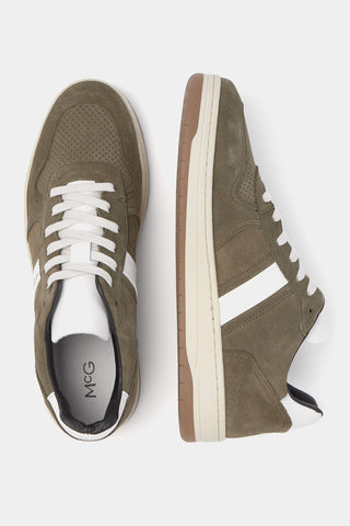 McG Olive Green sneakers leather with chunky soles