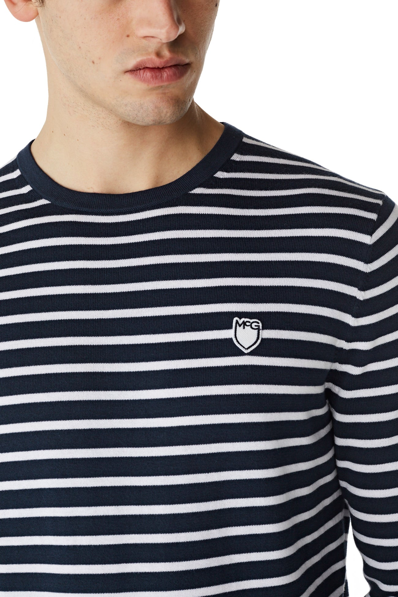 McG Striped sweater with round neck