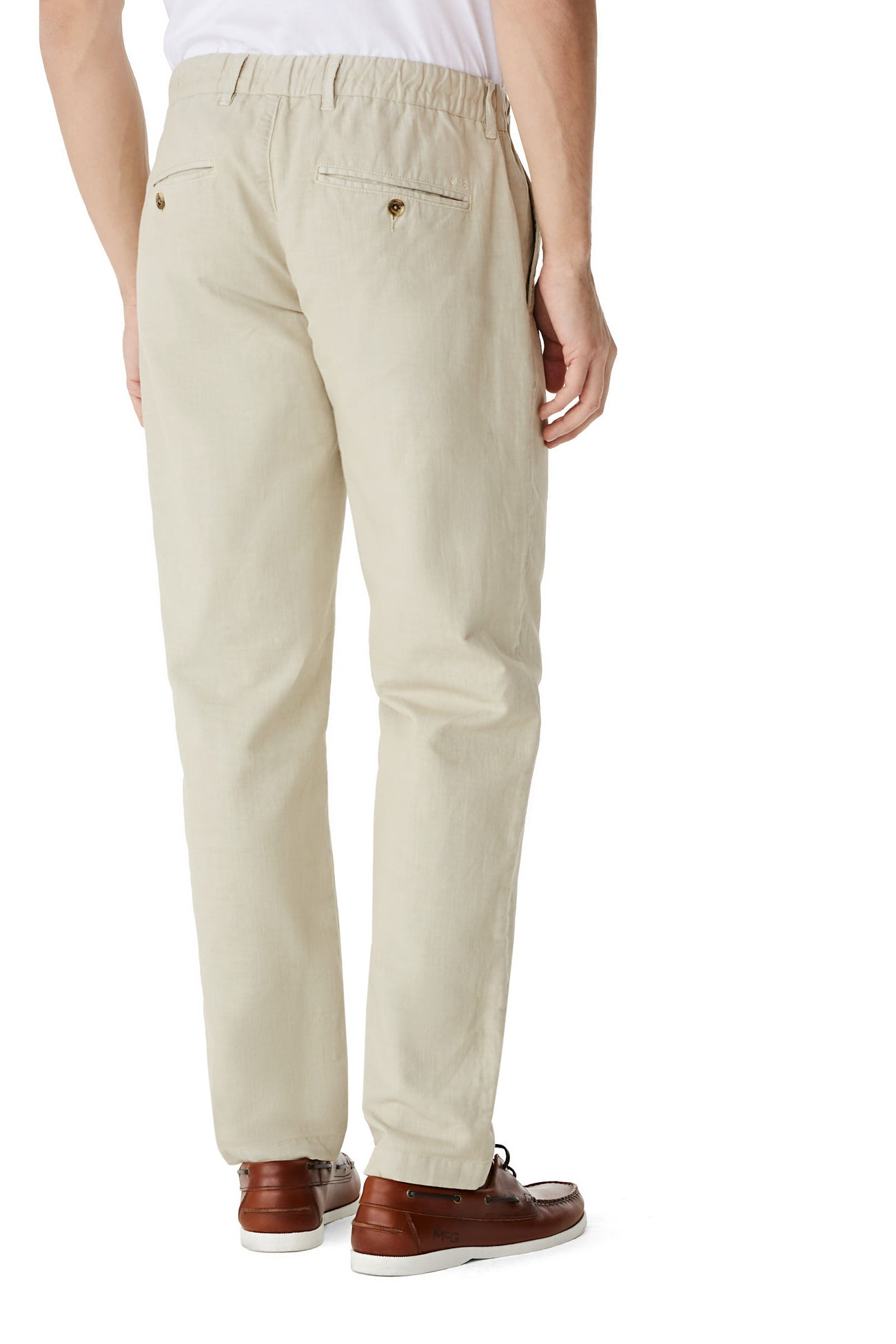 McG Relaxed fit trousers in cotton and linen blend