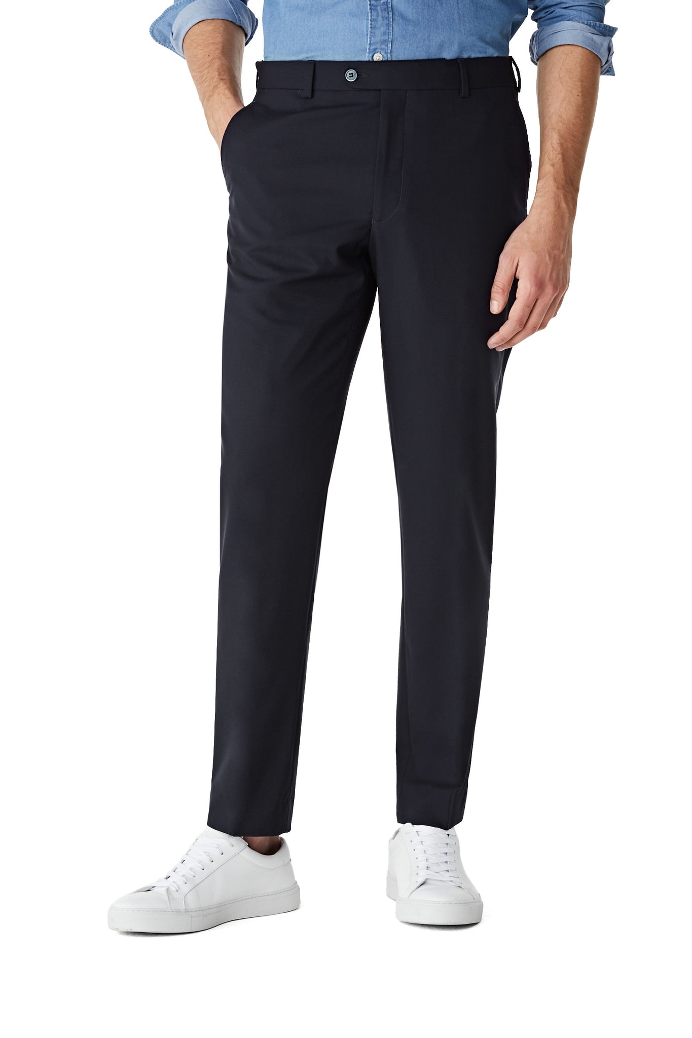 McG Tailored fit trousers of wool