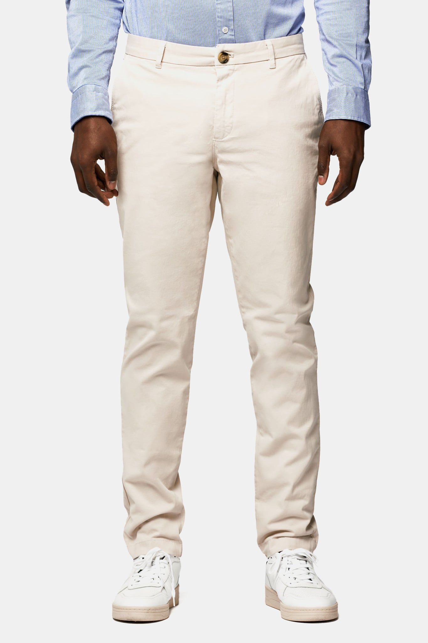 Garment dye slim fit chino