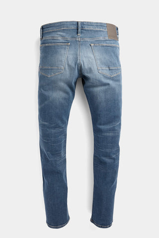 Slim fit jeans with button closure