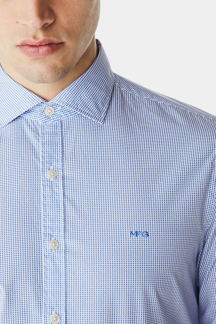 slim fit shirt with mini circle print