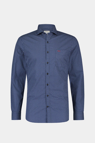 Slim fit shirt with floral print
