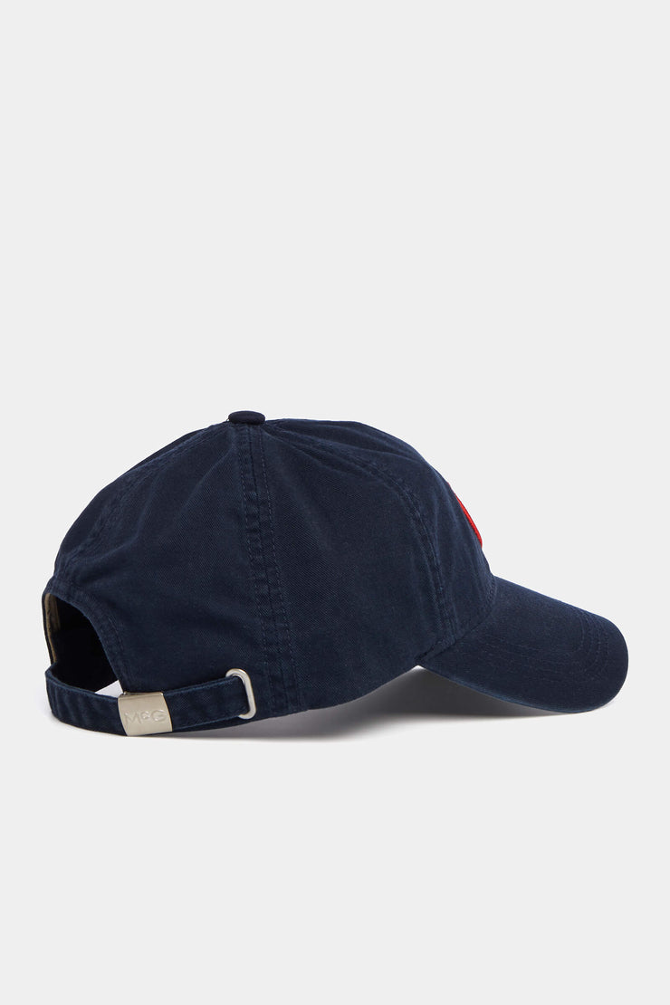 Twill cap with shield logo
