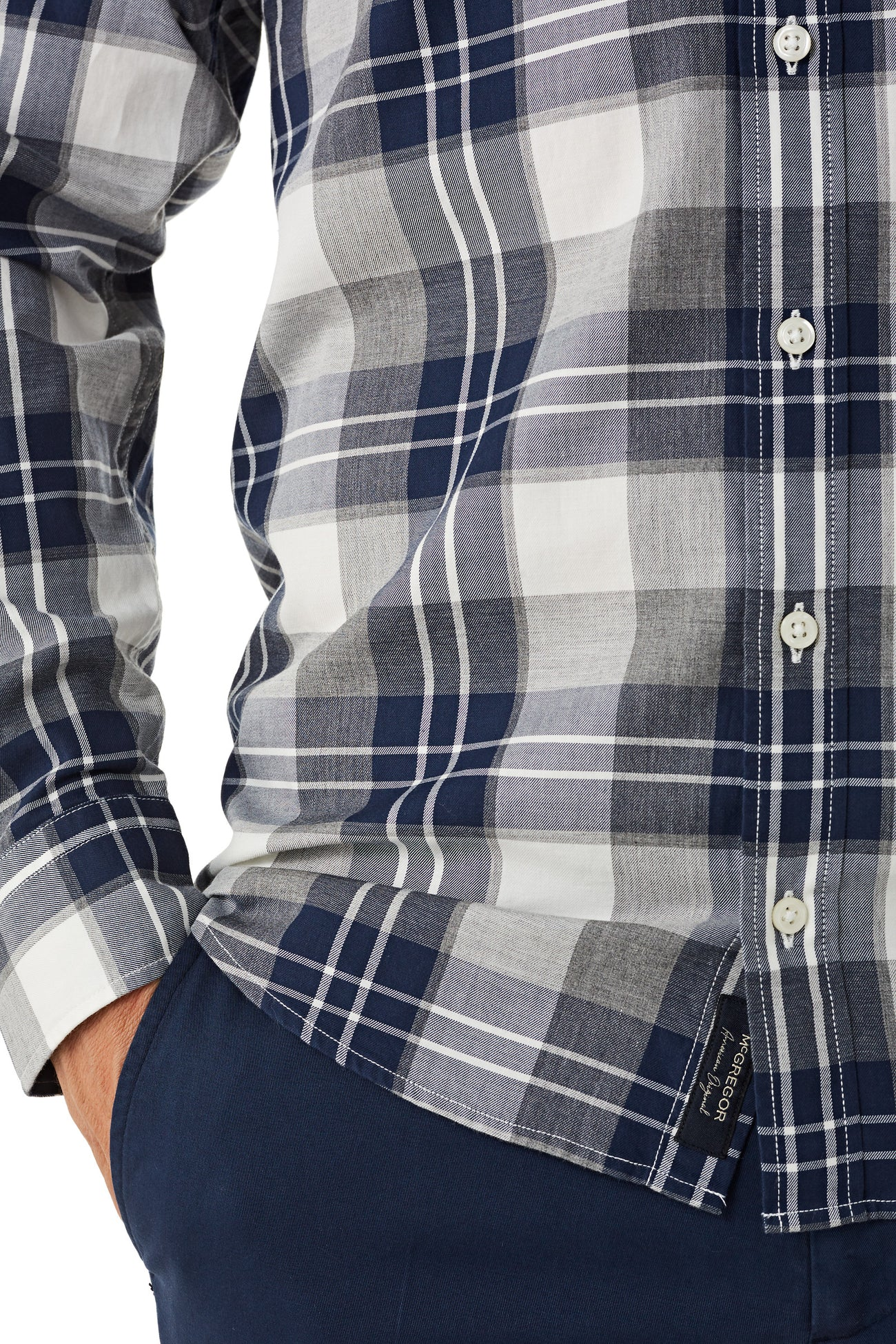 Cotton Shirt with Tartan Shirt Regular Fit