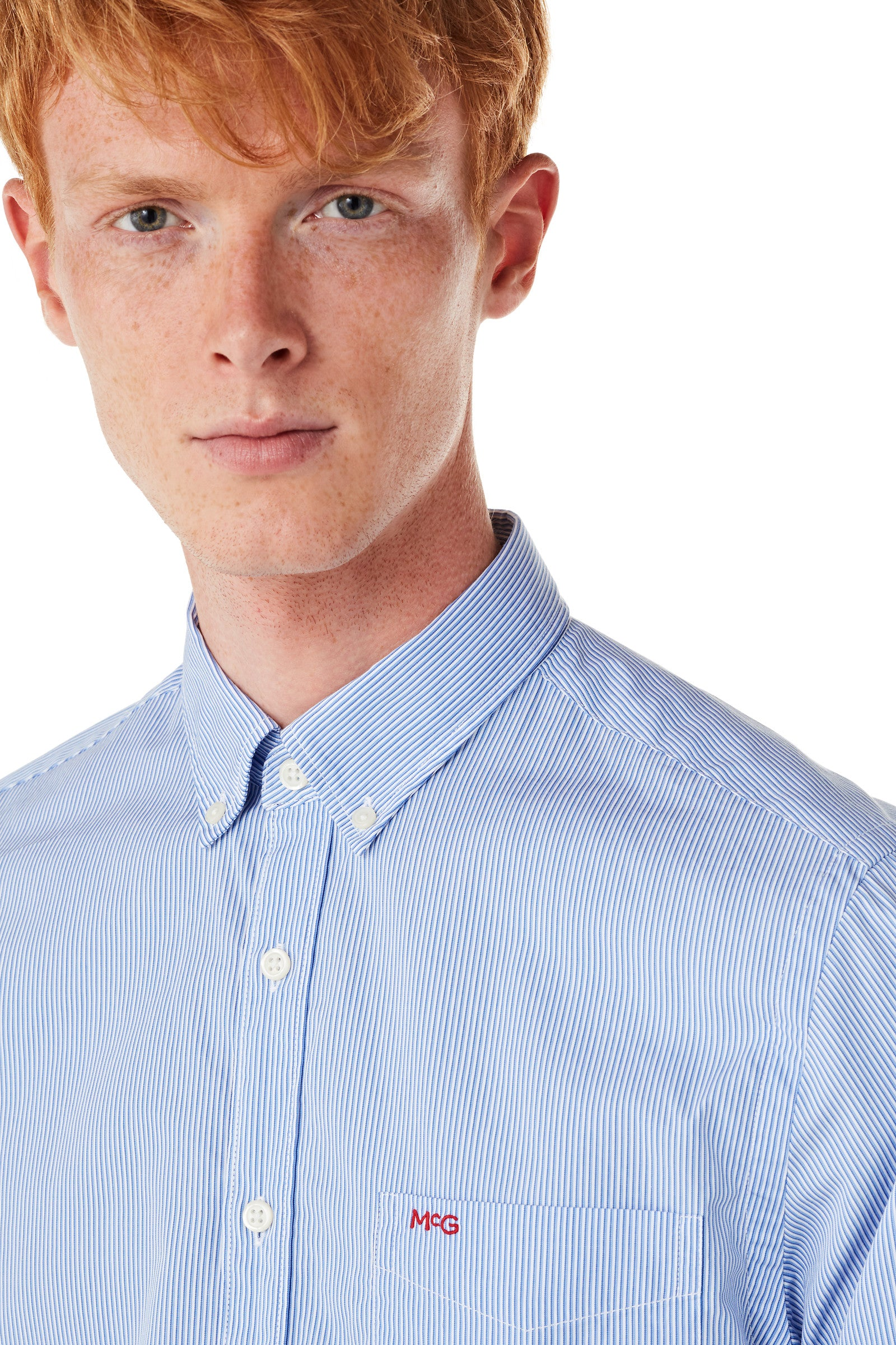 Cotton Shirt with Fine Stripe Regular Fit