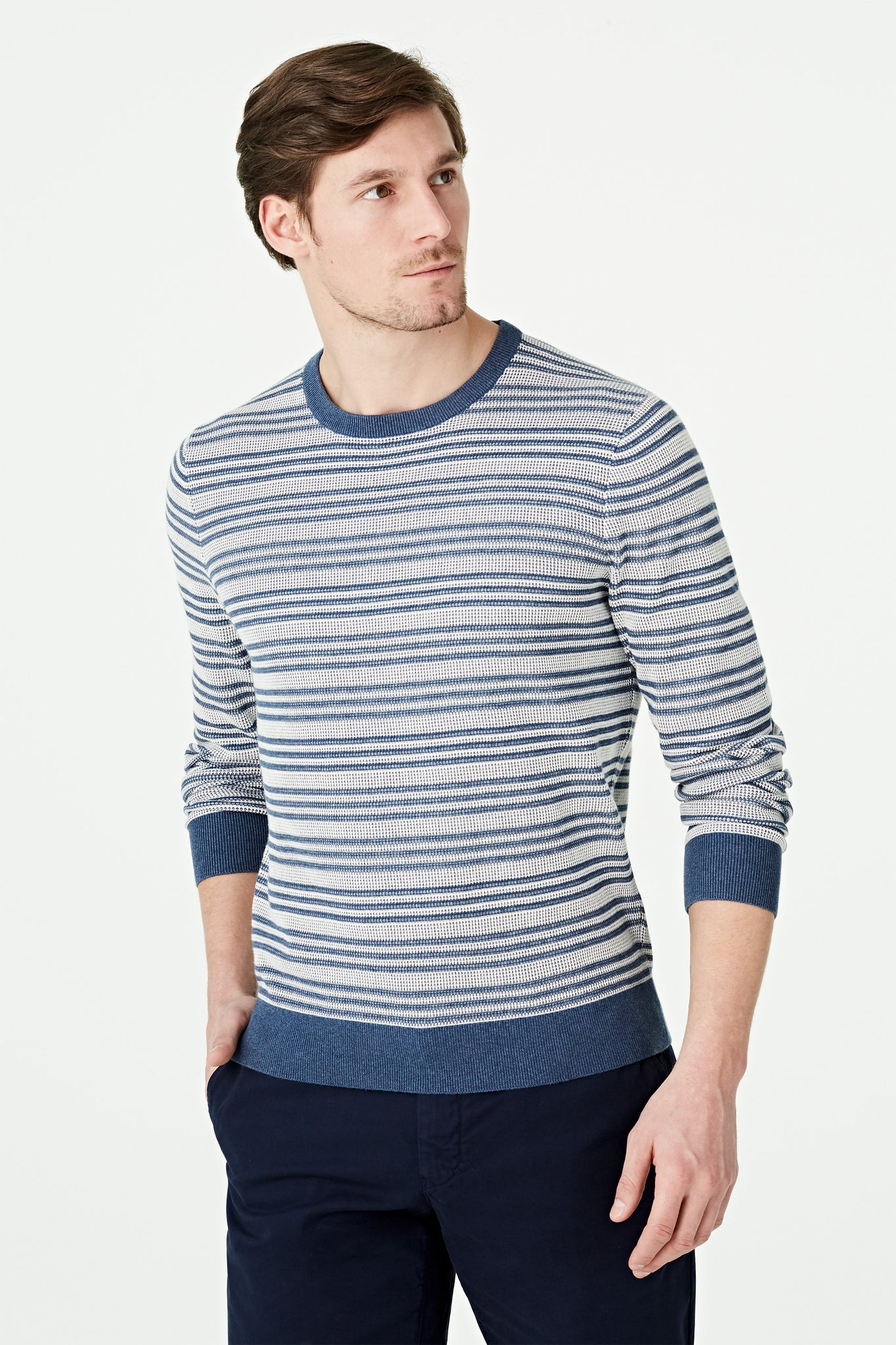 Twotone Crew Neck Sweater