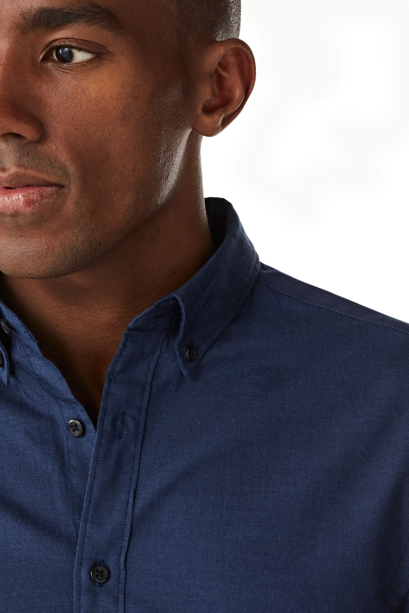 Cotton Shirt in Twotone Twill Regular Fit