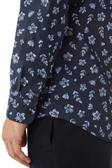 Cotton Shirt with Winter Flower print Regular Fit