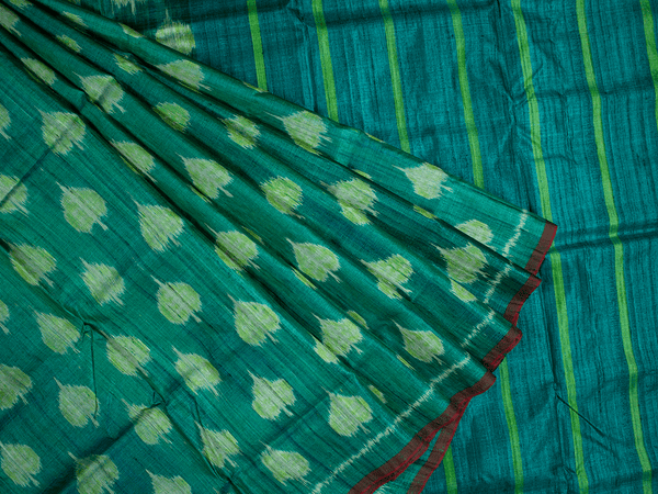 A Peepal Design Tussar Silk Saree
