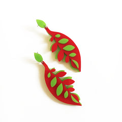 VITAL CALATHEA CHERRY POP EARRINGS